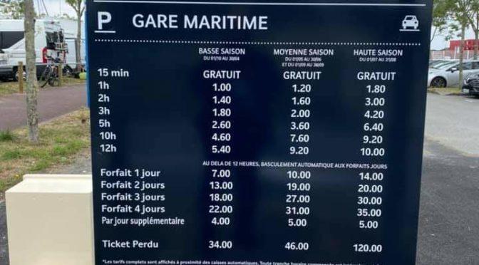 Parking de la gare maritime, 120 €/an pour les pendulaires. Et les Groisillons ?